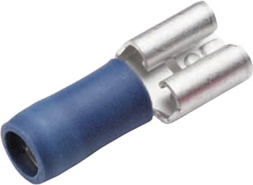 Flachsteckhülse Steckbreite: 6.3 mm Steckdicke: 0.8 mm 180 ° Teilisoliert Blau Cimco 180232 1 St.