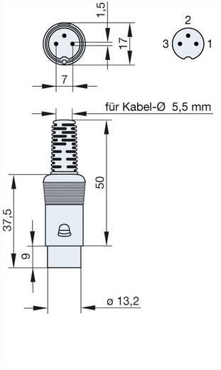 DIN-Rundsteckverbinder Stecker, gerade Polzahl: 3 Grau Hirschmann MAS 30 1 St.