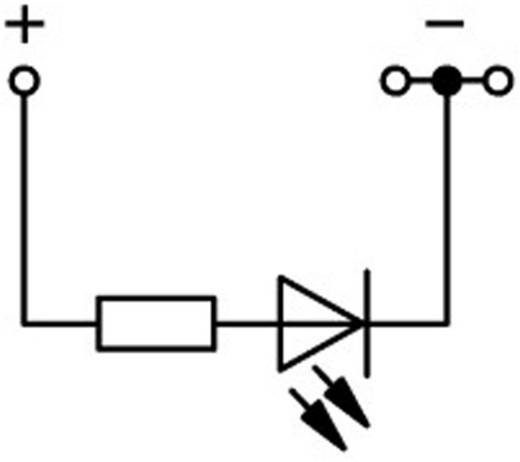 LED-Klemme 4.20 mm Zugfeder Belegung: L Grau WAGO 2001-1321/1000-434 1 St.