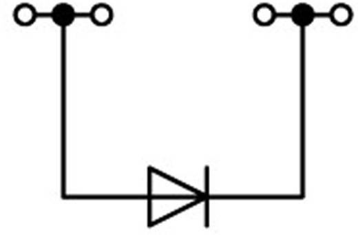 Diodenklemme 4.20 mm Zugfeder Belegung: L Grau WAGO 2001-1411/1000-410 1 St.