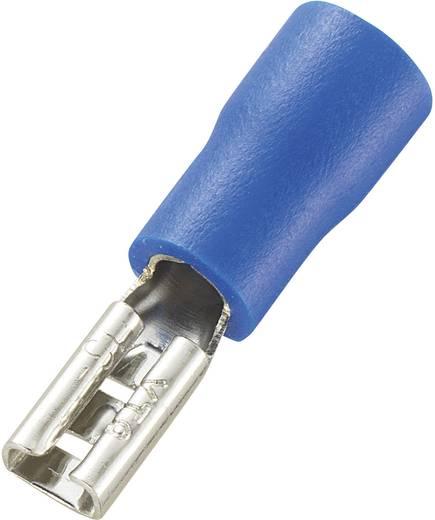 Flachsteckhülse Steckbreite: 2.8 mm Steckdicke: 0.8 mm 180 ° Teilisoliert Blau Conrad Components 93014c527 100 St.