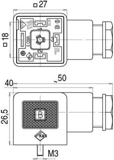 Magnetventilsteckverbinder beschaltet, Bauform A Serie 210 Schwarz 43-1726-112-03 Pole:2+PE Binder Inhalt: 1 St.