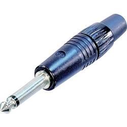 Jack konektor 6.35 mm čiernobiela zástrčka, rovná Neutrik NP2CBAG, pinov 2, čierna, 1 ks
