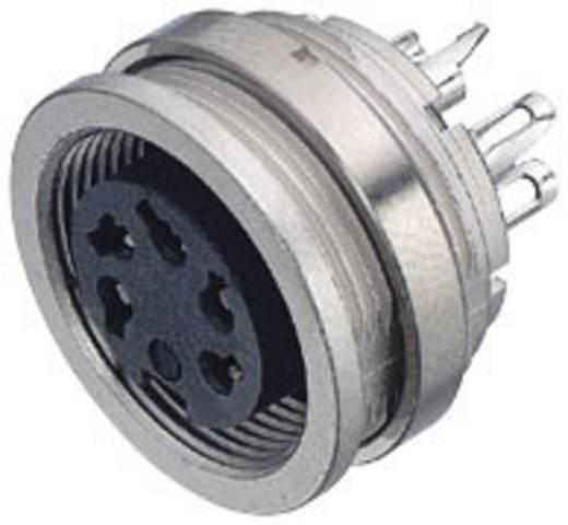 Miniatur-Rundsteckverbinder Serie 581 und 680 Pole: 4 Flanschdose 6 A 09-0312-00-04 Binder 1 St.