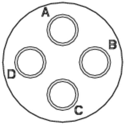 Kabeldose - Serie RT360™ Nennstrom (Details): 23 A / 13 A Pole: 4 RT0614-4SNH Amphenol