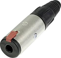 Jack konektor 6,35 mm stereo Neutrik NJ3FC6, zásuvka rovná, 3pól., 3,5 - 8 mm, stříbrná