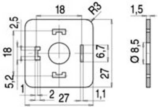 Flachdichtung für Magnetventilsteckverbinder Bauform A Serie 210 Rot 16-8085-001 Binder Inhalt: 1 St.