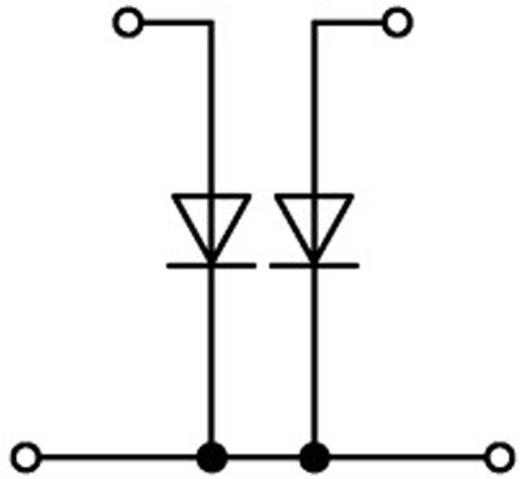 Doppelstock-Diodenklemme 5.20 mm Zugfeder Belegung: L Grau WAGO 2002-2213/1000-488 1 St.