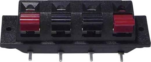 Lautsprecher-Steckverbinder Buchse, Einbau horizontal Polzahl: 4 Schwarz 1 St.