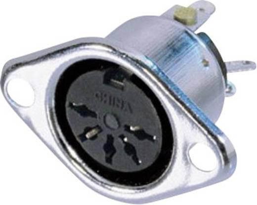 DIN-Rundsteckverbinder Flanschbuchse, Kontakte gerade Polzahl: 5 Silber Neutrik NYS325 1 St.