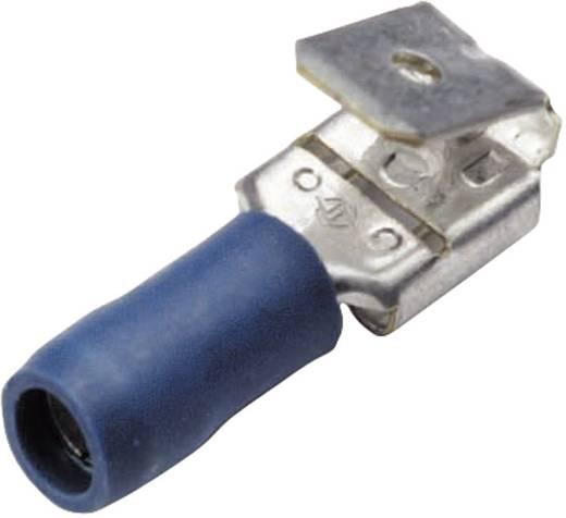 Flachsteckhülse mit Abzweig Steckbreite: 6.3 mm Steckdicke: 0.8 mm 180 ° Teilisoliert Blau Cimco 180282 1 St.