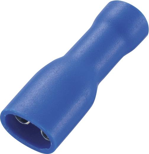 Flachsteckhülse Steckbreite: 4.8 mm Steckdicke: 0.8 mm 180 ° Vollisoliert Blau Conrad Components 93014c537 50 St.