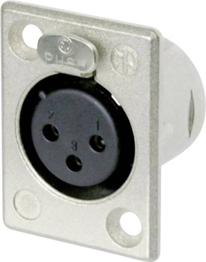 XLR-Steckverbinder Flanschbuchse, Kontakte gerade Polzahl: 3 Silber Neutrik NC3FP-1 1 St.