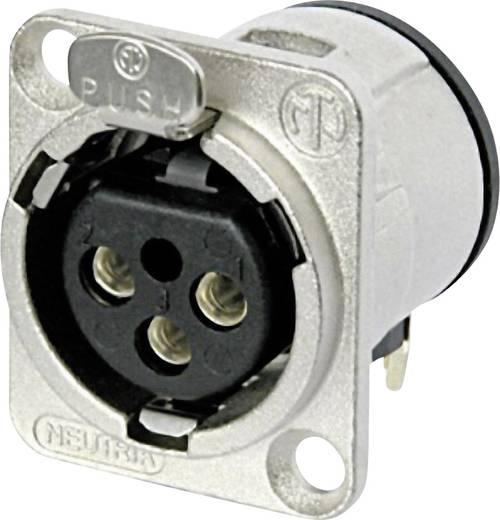 XLR-Steckverbinder Flanschbuchse, Kontakte gewinkelt Polzahl: 3 Silber Neutrik NC3FD-H 1 St.