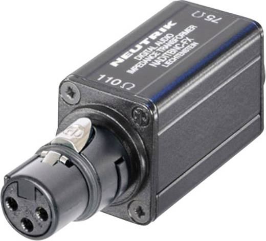 XLR-Adapter XLR-Buchse - BNC-Buchse Neutrik NADITBNC-FX 1 St.