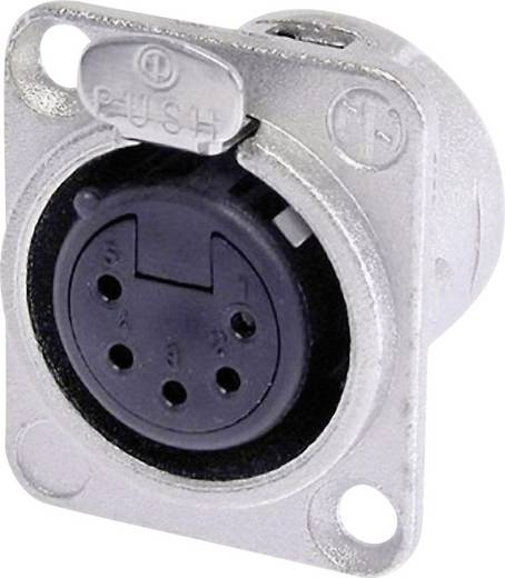XLR-Steckverbinder Flanschbuchse, Kontakte gerade Polzahl: 5 Silber Neutrik NC5FD-L-1 1 St.