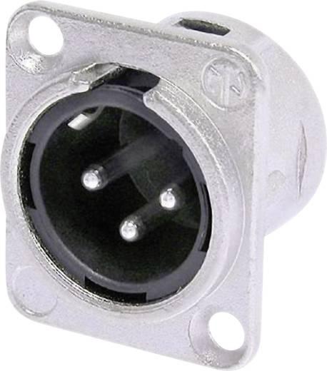 XLR-Steckverbinder Flanschstecker, Kontakte gerade Polzahl: 3 Silber Neutrik NC3MDL1 1 St.