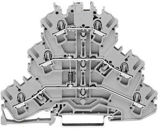 Dreistock-Diodenklemme 5.20 mm Zugfeder Belegung: L Grau WAGO 2002-3211/1000-676 1 St.