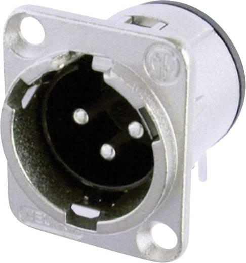 XLR-Steckverbinder Flanschstecker, Kontakte gewinkelt Polzahl: 3 Silber Neutrik NC3MD-H 1 St.