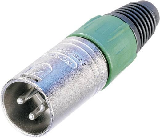 XLR-Steckverbinder Stecker, gerade Polzahl: 3 Silber Neutrik NC3MX 1 St.