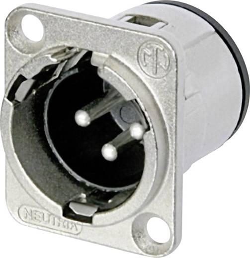 XLR-Steckverbinder Flanschstecker, Kontakte gerade Polzahl: 3 Silber Neutrik NC3MD-V 1 St.