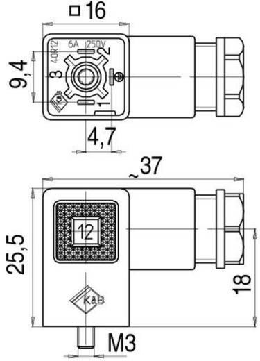 Magnetventilsteckverbinder Bauform C Serie 235 Schwarz 43-1930-000-03 Pole:2+PE Binder Inhalt: 1 St.