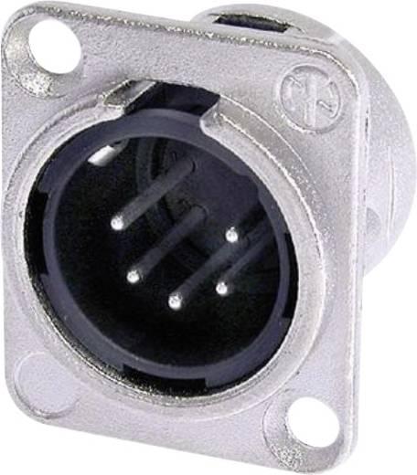 XLR-Steckverbinder Flanschstecker, Kontakte gerade Polzahl: 5 Silber Neutrik NC5MDL1 1 St.