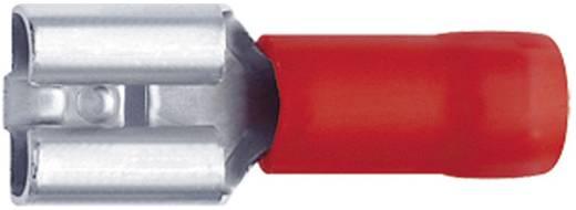 Flachsteckhülse Steckbreite: 2.8 mm Steckdicke: 0.8 mm 180 ° Teilisoliert Rot Klauke 8201A 1 St.