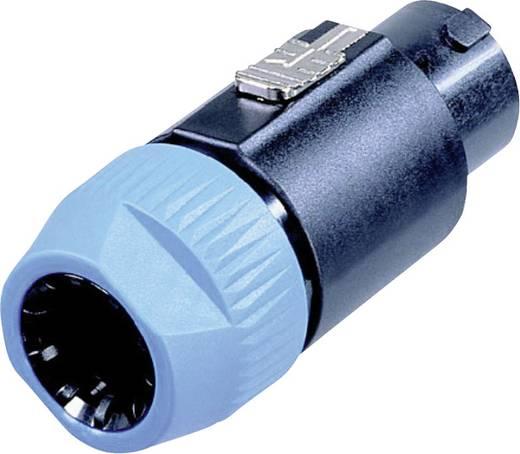 Lautsprecher-Steckverbinder Stecker, gerade Polzahl: 8 Schwarz, Blau Neutrik NL8FC 1 St.