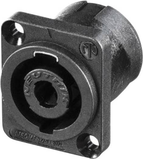 Lautsprecher-Steckverbinder Flanschbuchse, Kontakte gerade Polzahl: 4 Schwarz Neutrik NL4MDV 1 St.