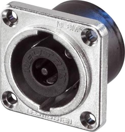 Lautsprecher-Steckverbinder Flanschbuchse, Kontakte gerade Polzahl: 8 Silber Neutrik NL8MPR 1 St.