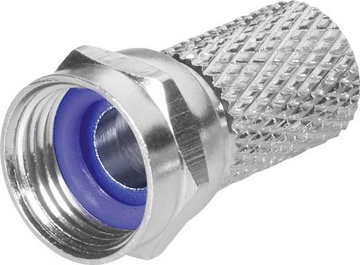 F-Stecker mit Aufdreh-Anschluss Steckverbinder Kabel-Durchmesser: 6.8 mm
