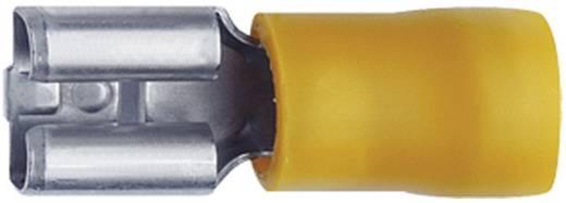 Flachsteckhülse Steckbreite: 4.8 mm Steckdicke: 0.8 mm 180 ° Teilisoliert Gelb Klauke 8503 1 St.