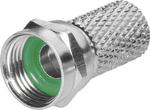 F-Stecker mit Aufdreh-Anschluss Kabel-Durchmesser: 6.8 mm