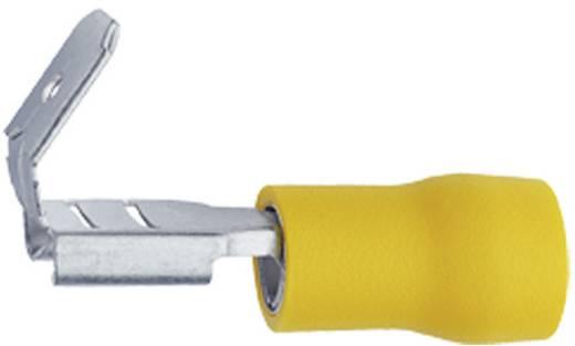 Flachsteckhülse mit Abzweig Steckbreite: 6.3 mm Steckdicke: 0.8 mm 180 ° Teilisoliert Gelb Klauke 750AZ 1 St.