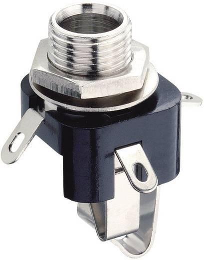 Klinken-Steckverbinder 6.35 mm Buchse, Einbau vertikal Polzahl: 3 Stereo Schwarz Lumberg KLB 3 1 St.