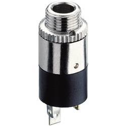 Jack konektor 2.5 mm stereo zásuvka, vstavateľná vertikálna Hicon HI-J25SEF, pinov 3, strieborná, 1 ks
