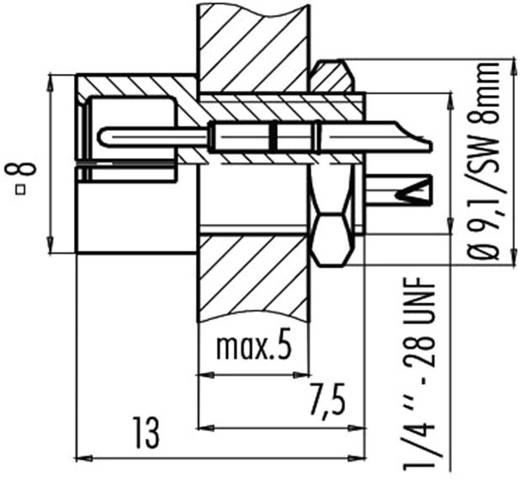 Subminiatur-Rundsteckverbinder Serie 719 Pole: 4 Flanschstecker 3 A 09-9765-30-04 Binder 1 St.