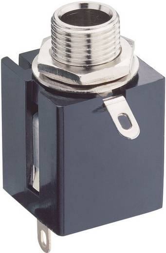 Klinken-Steckverbinder 6.35 mm Buchse, Einbau vertikal Polzahl: 3 Stereo Schwarz Lumberg KLBPS 3 1 St.