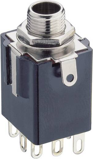 Klinken-Steckverbinder 6.35 mm Buchse, Einbau vertikal Polzahl: 3 Stereo Schwarz Lumberg KLBPSS 3 1 St.