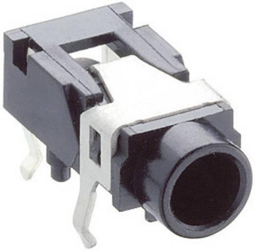 Klinken-Steckverbinder 3.5 mm Buchse, Einbau horizontal Polzahl: 3 Stereo Schwarz Lumberg 1503 07 1 St.