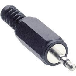 Jack konektor 2.5 mm stereo zástrčka, rovná Lumberg KLS 13, pinov 3, čierna, 1 ks