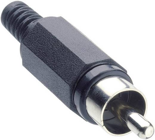 Cinch-Steckverbinder Stecker, gerade Polzahl: 2 Schwarz Lumberg XSTO 1 1 St.