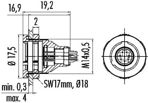 Subminiatur-Rundsteckverbinder Serie 430 Pole: 7 Flanschstecker 1 A 09-4927-015-07 Binder 1 St.