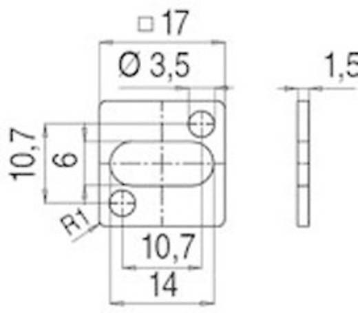 Flachdichtung für Magnetventilsteckverbinder Bauform C Serie 235 Rot 16-8107-001 Binder Inhalt: 1 St.