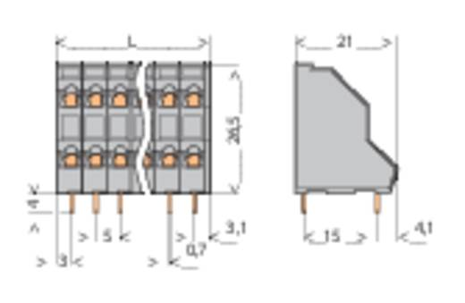 Doppelstockklemme 2.50 mm² Polzahl 8 736-104 WAGO Grau 1 St.