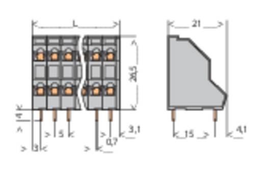 Doppelstockklemme 2.50 mm² Polzahl 8 WAGO Grau 1 St.