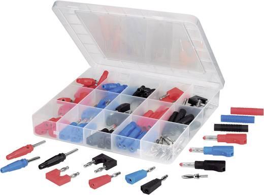 Laborstecker Stift-Ø: 4 mm Schwarz, Rot, Blau, Silber VOLTCRAFT SUBP84-03 84 St.