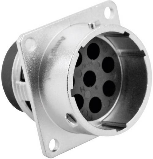 Gerätestecker - Serie RT360™ Vierkantflansch Nennstrom (Details): 13 A / 5 A Pole: 8 RT0018-8PNH Amphenol