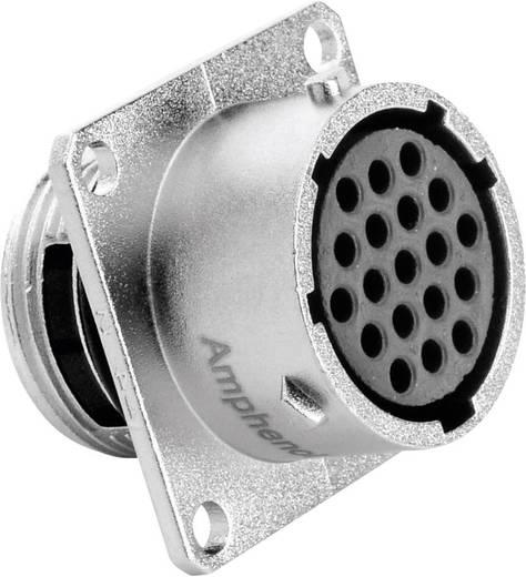 Gerätedose - Serie RT360™ Vierkantflansch Nennstrom (Details): 5 A Pole: 19 RT0014-19SNH Amphenol